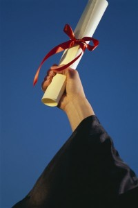 person holding a degree