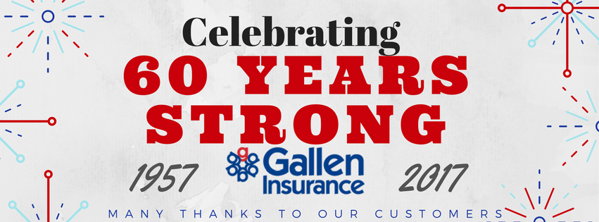 Gallen Insurance - Celebrating 60 Years Strong