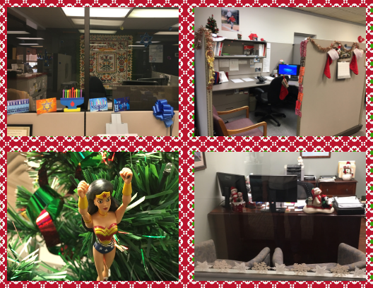 Our annual Employee Holiday Party is approaching. To help get everyone in the holiday spirit, we decided to host an office/cubicle decorating contest!!