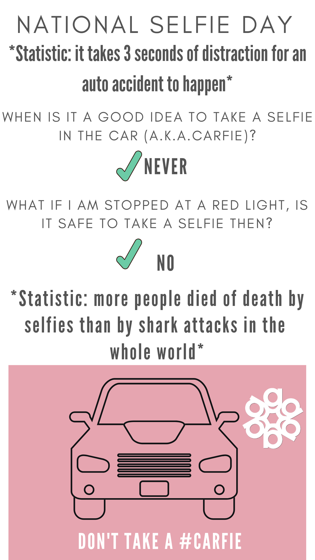 National Selfie Day Safety Infographic