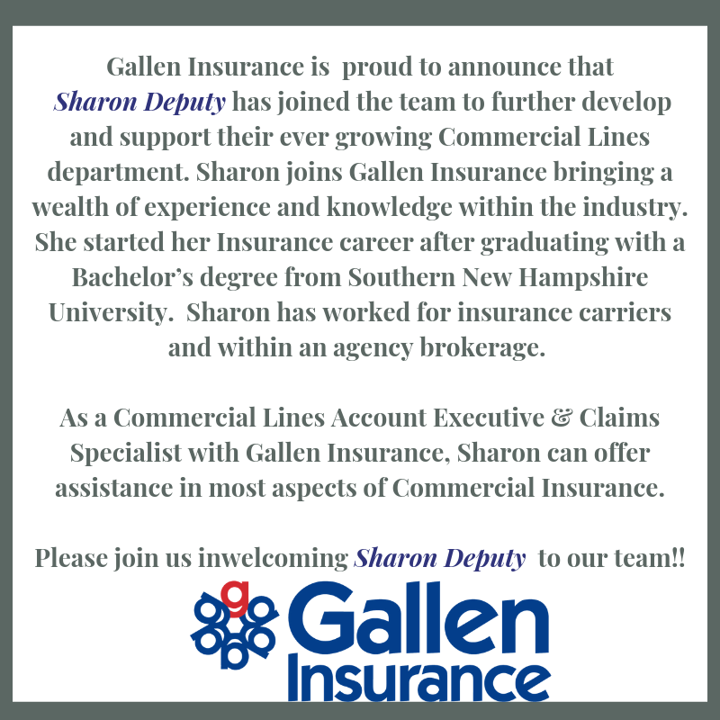 Sharon Deputy - Commercial Lines Account Executive & Claims Specialist at Gallen Insurance