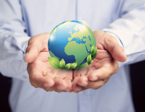 Green Policy Earth in Hand