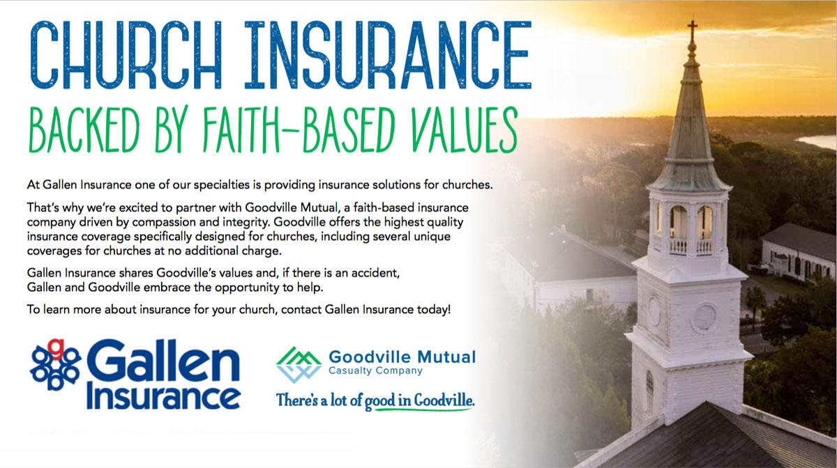 Church Insurance in Pennsylvania backed by faith based values