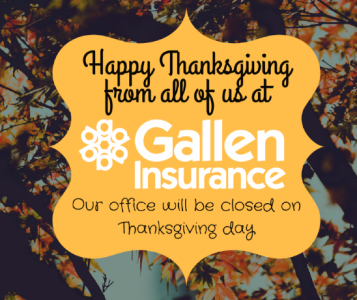 Happy Thanksgiving from Gallen Insurance
