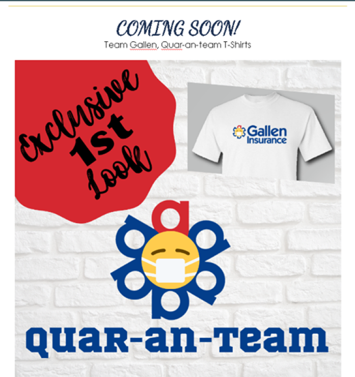 Exclusive first look at our new Team Gallen, Quar-an-team Tshirts!! COMING SOON