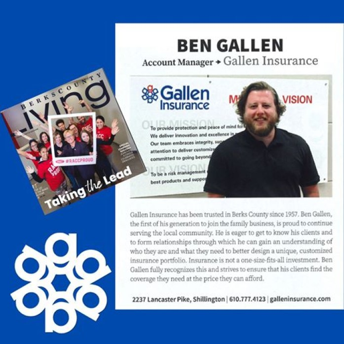 Be sure to check out the latest edition of Berks County Living featuring our own Ben Gallen!