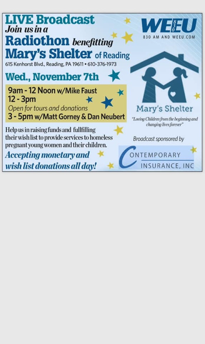 Gallen Insurance is a drop off site for donations to Mary's Shelter