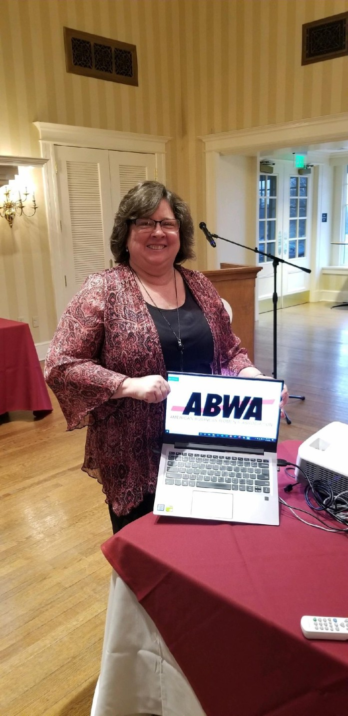Annmarie Sullivan Dallao, co-owner of ARCpoint Labs of Reading, PA in West Lawn was the featured presenter at the March 12, 2020 meeting of the ABWA