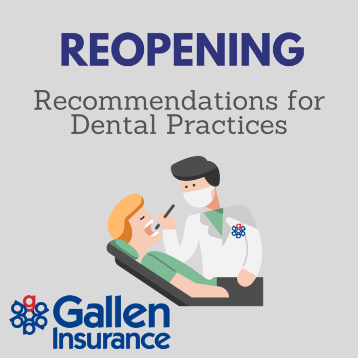 Reopening Recommendations for Dental Practices