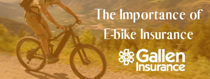 The importance of E-bike Insurance