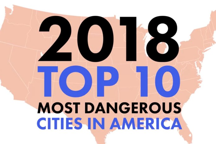 2018 Top 10 Most Dangerous Cities in America image