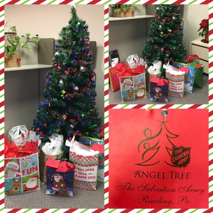 Gallen Insurance participates in Salvation Army Angel Tree Program as our employees wanted to work together on another way to give back this holiday season.