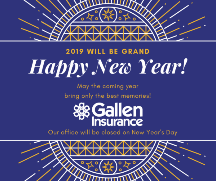 Happy New Year from Gallen Insurance!