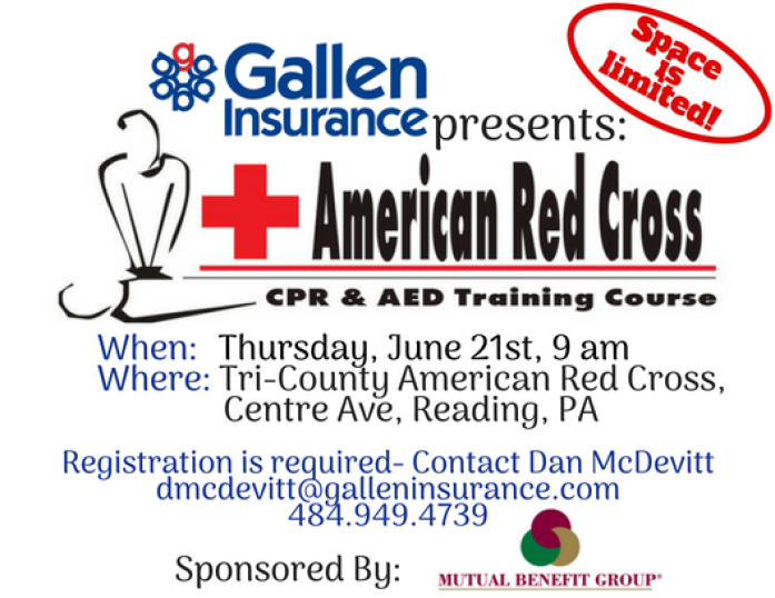 Gallen Insurance presents American Red Cross CPR & AED Training