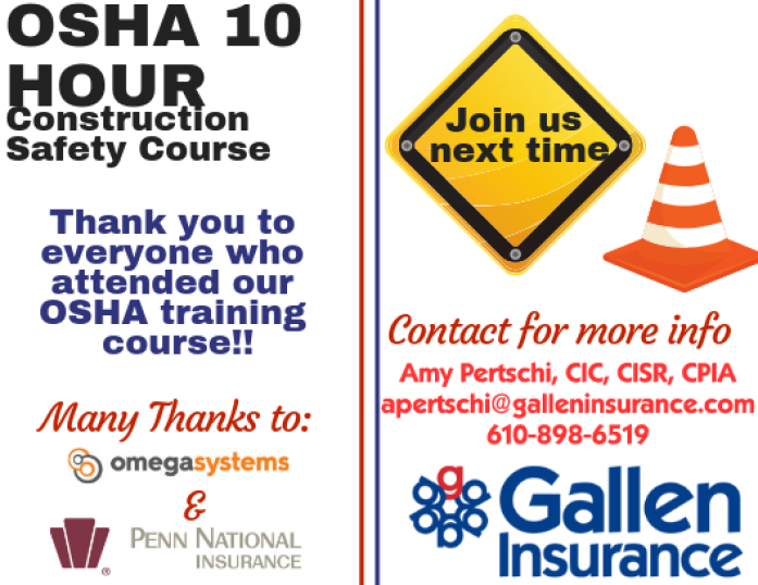 Thank you to everyone who attended our OSHA training course!