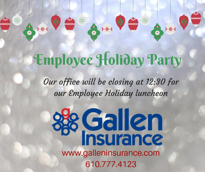 2019 Gallen Insurance Employee Holiday Party