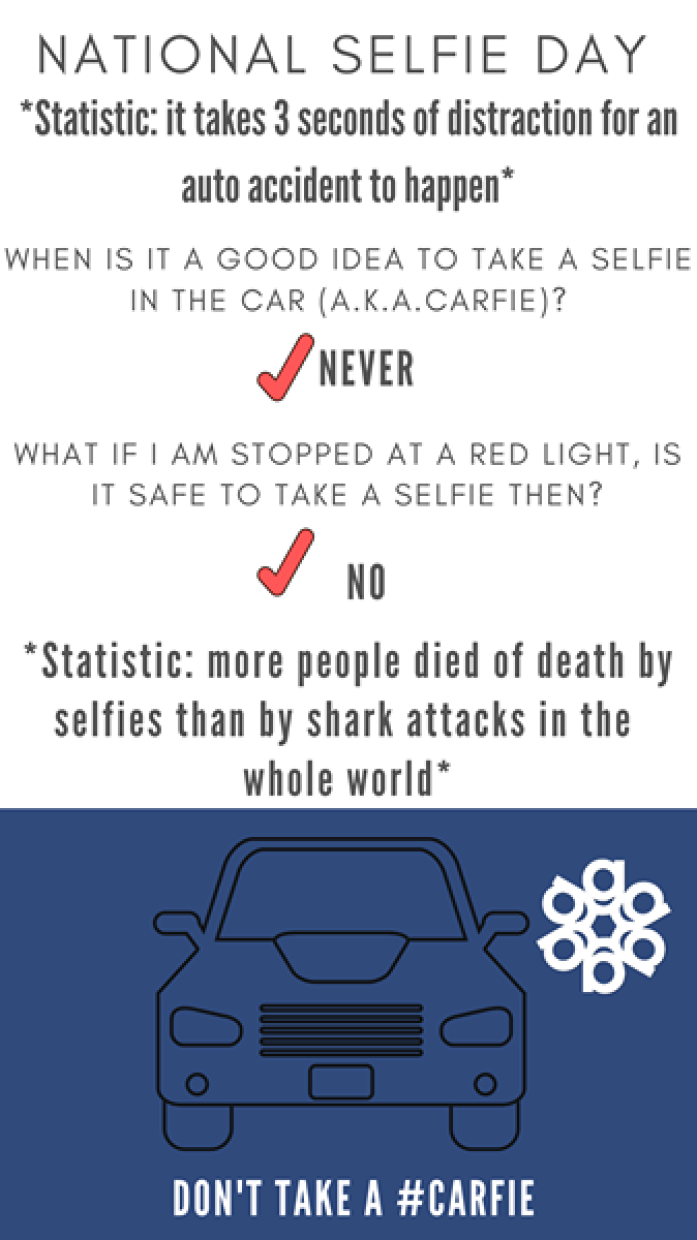 National Selfie Day Safety Tips Infographic