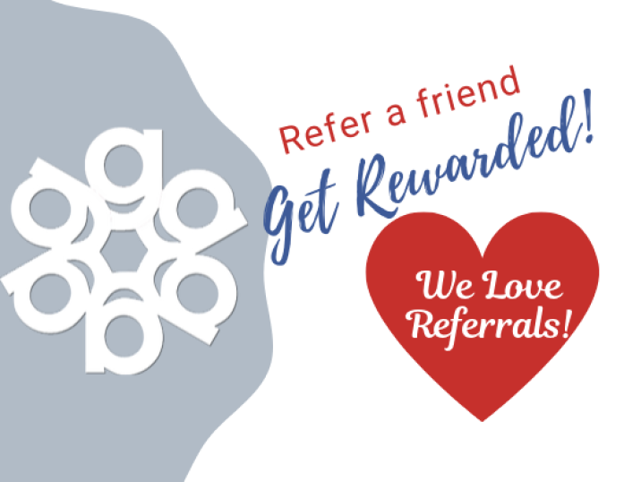 Earn a gift card for each referral that you send to us! Support local, small business #gallencares