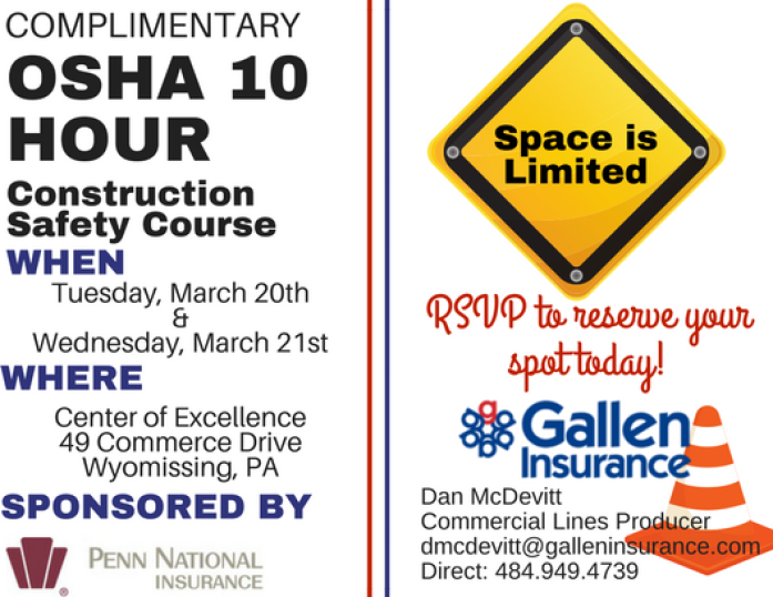 OSHA 10 Hour Construction Safety Course invite final