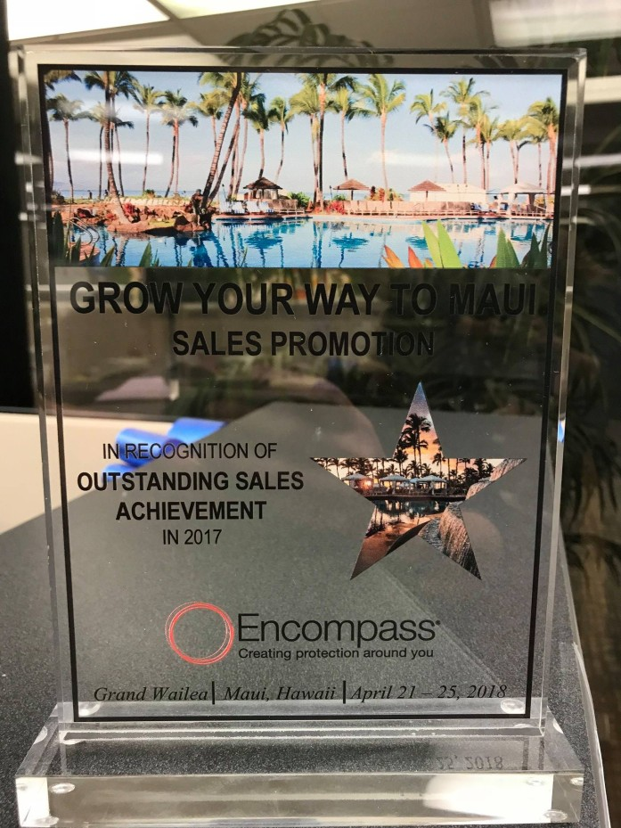 2018 Encompass Sales Promotion Award