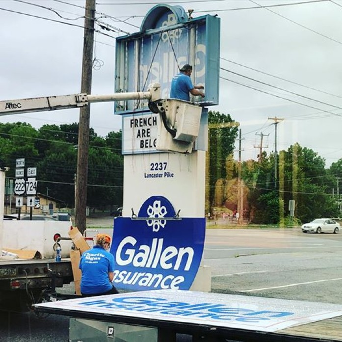 Don't worry, we will still be providing fun facts for your enjoyment. Stay tuned as we reveal the new look of the Gallen Insurance sign.