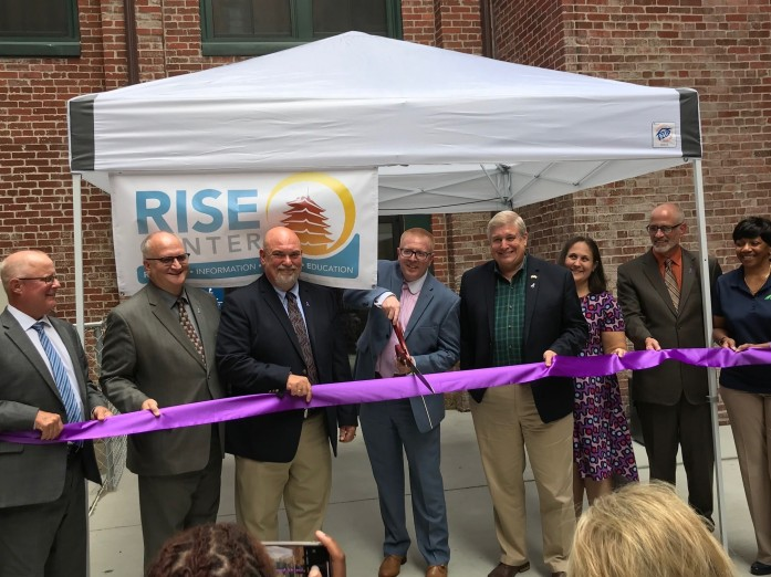 Daniel McDevitt represented Gallen Insurance at the ribbon cutting for RISE Recovery this morning