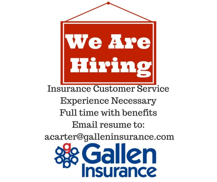 Gallen Insurance is Hiring - Insurance Customer Service - Berks County, Greater Reading, Pennsylvania