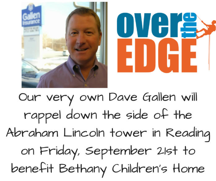 Help Dave Gallen raise money on Friday, September 21st to benefit Bethany Children's Home