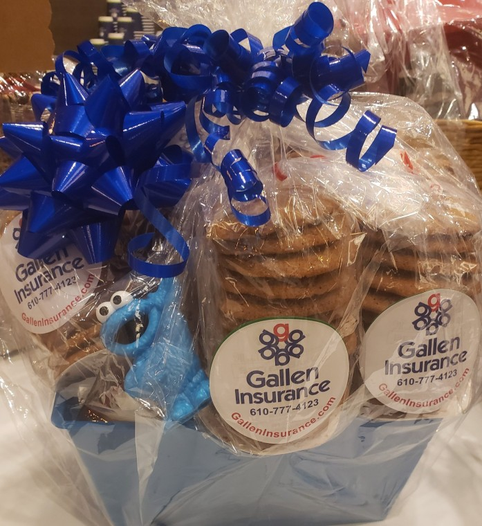 Gallen Insurance donates a Better Baker cookie basket for Family Promise of Berks County
