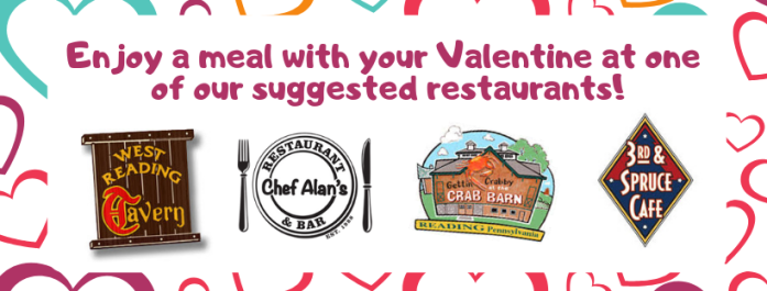 Enjoy a meal with your valentine
