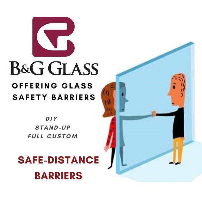 B&G Glass Safe Distance Barriers