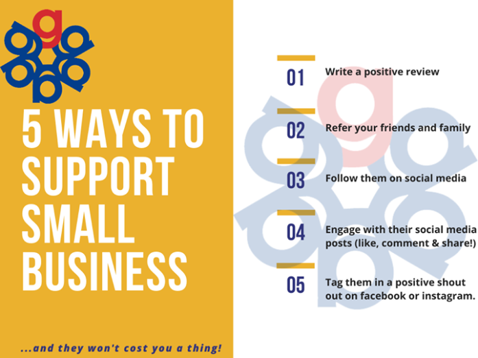 5 Ways to Support Small Business infographic