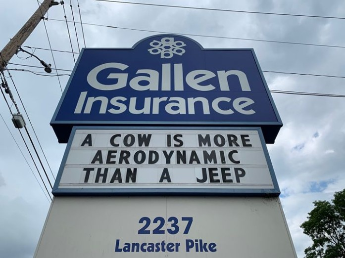 A Cow is more aerodynamic than a Jeep