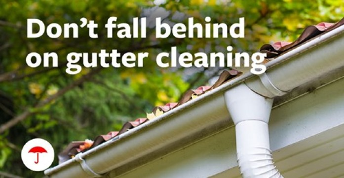 Don't fall behind on gutter cleaning!  Check out other fall home maintenance tips from Traveler's Insurance.