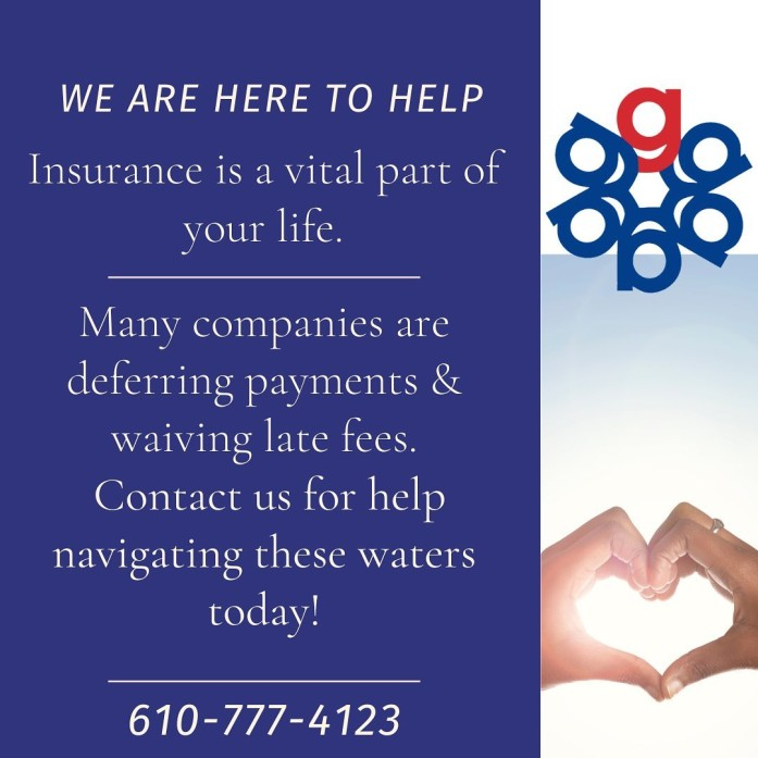 Many companies are deferring payments and waiving late fees.  Contact us online or call us at 610-777-4123 for help navigating those waters today!