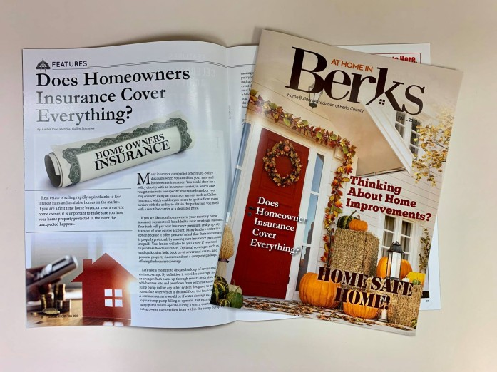 Homeowner's Insurance article featured in At Home In Berks