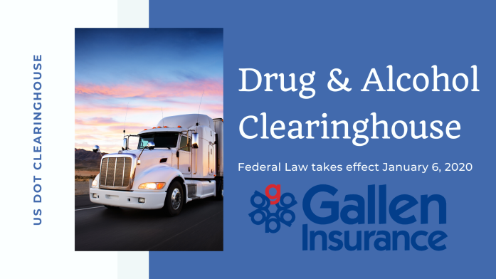 New US Department of Transportation Drug & Alcohol Clearinghouse law for CDL drivers