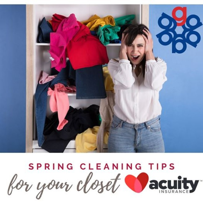 Acuity Insurance is bringing you some tips for cleaning and organizing your closet.